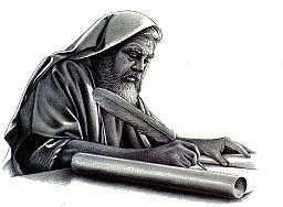 imagen de un profeta escribiendo en un papel